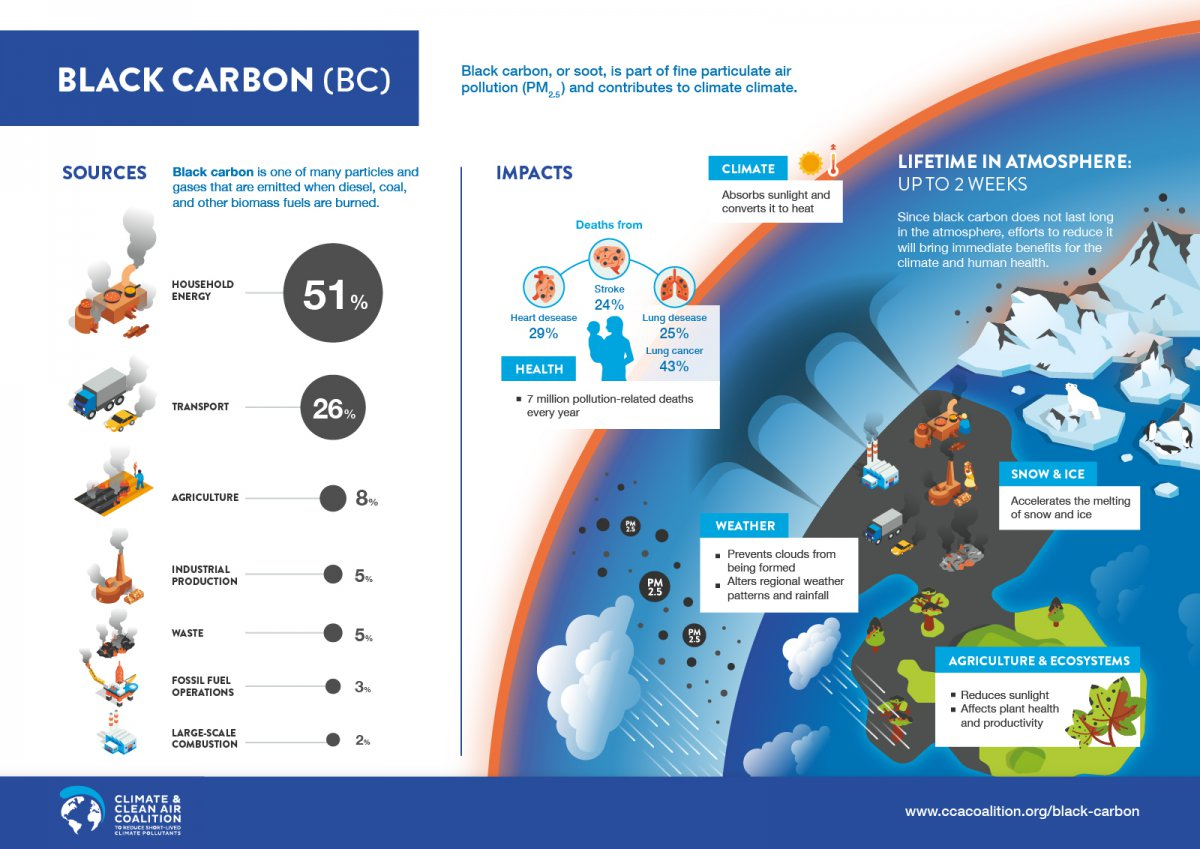 Black carbon emissions sources and impacts
