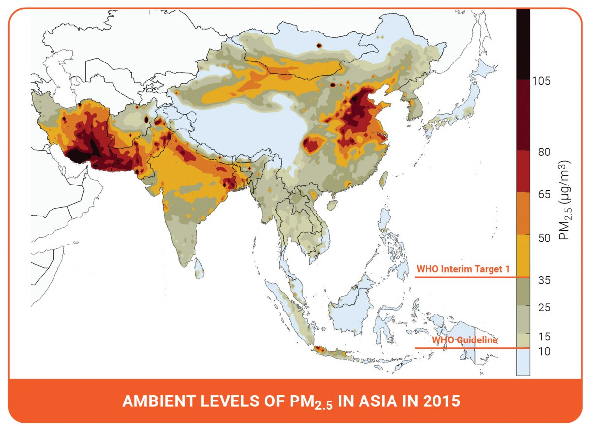 Air pollution measures for Asia and the Pacific   Climate