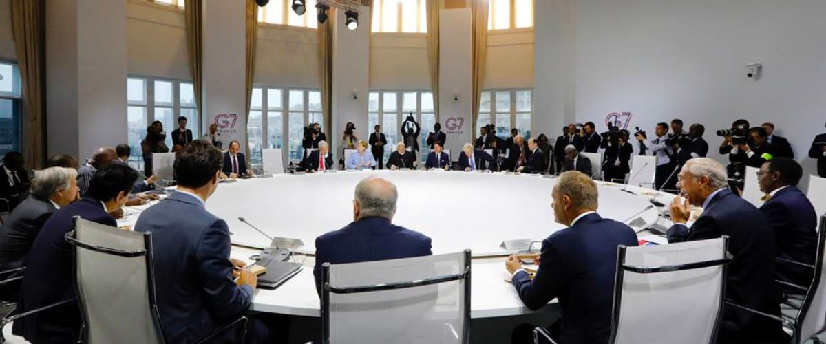 Leaders meet during the G7 roundtable on climate, biodiversity and oceans, where countries pledged to take immediate steps to improve energy efficiency in the cooling sector while phasing down hydrofluorocarbons (HFCs).