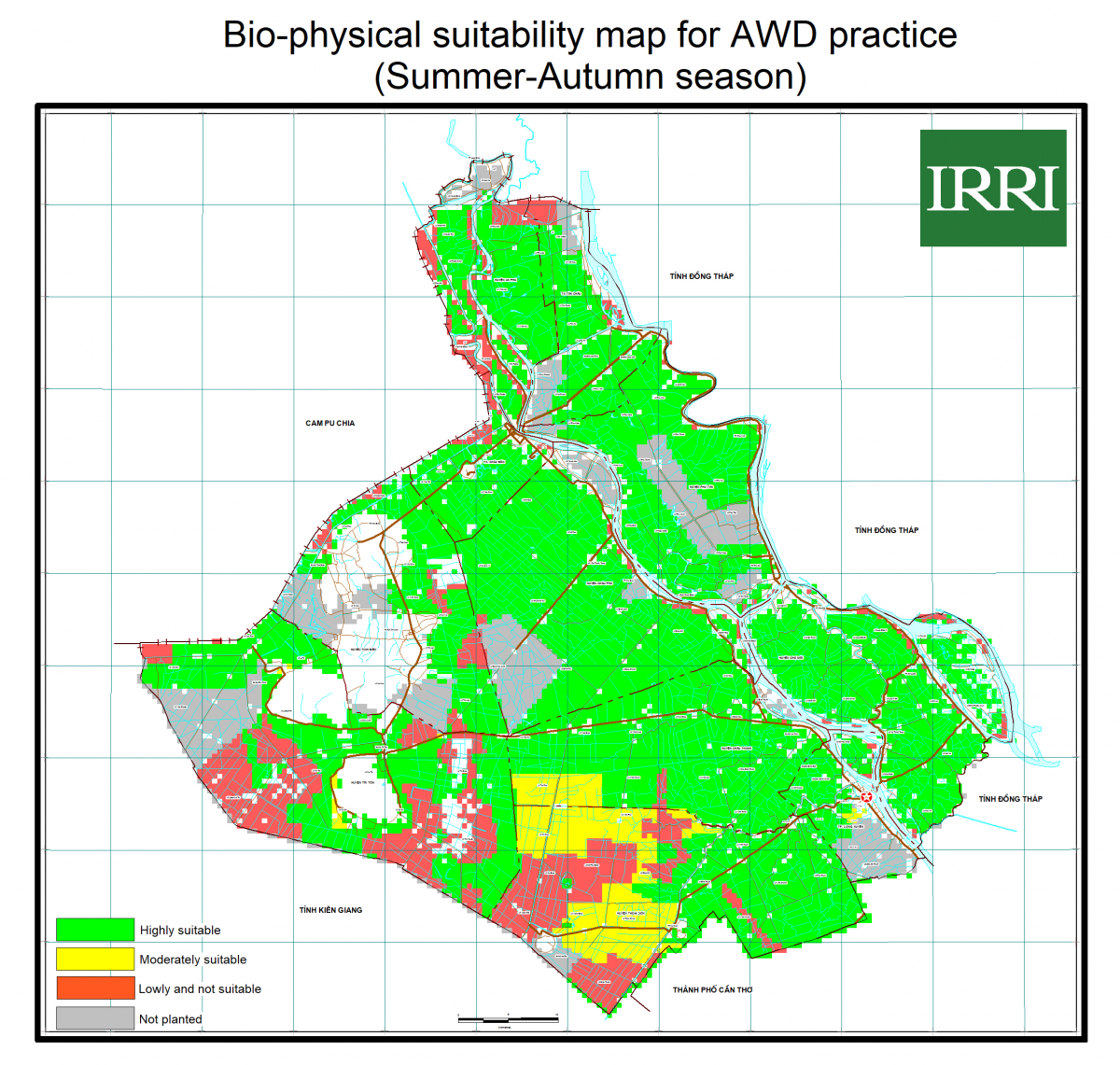 Image: Seasonal suitability map developd during the project
