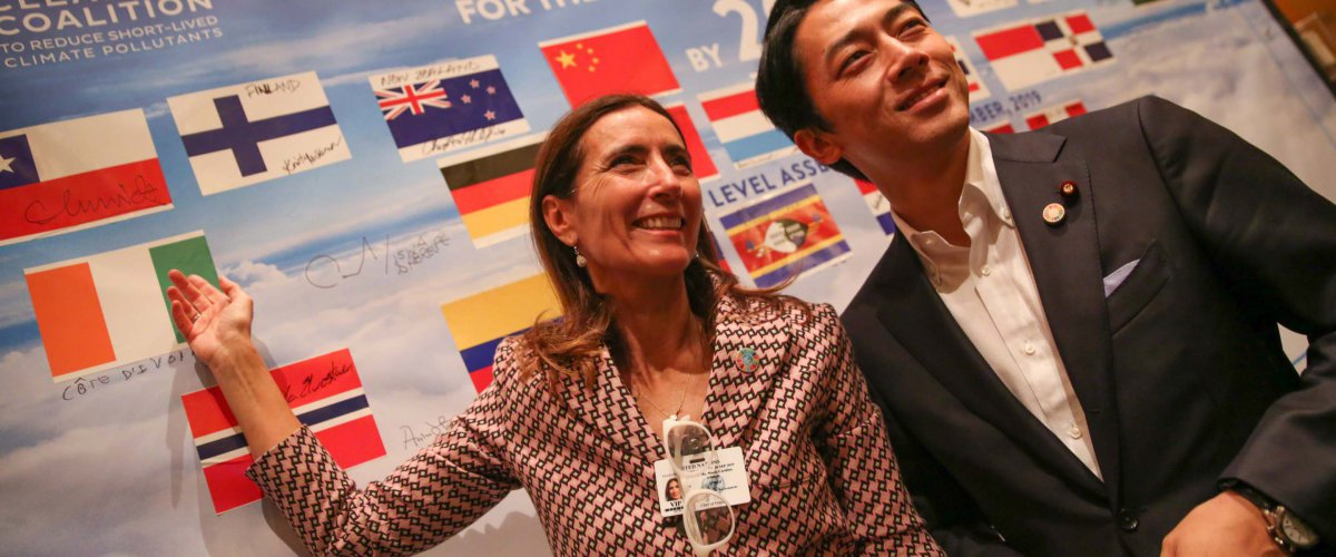 Chile and Japan's Ministers of Environment, Carolina Schmidt and Shinjiro Koizumi, attend the CCAC's High Level Assembly