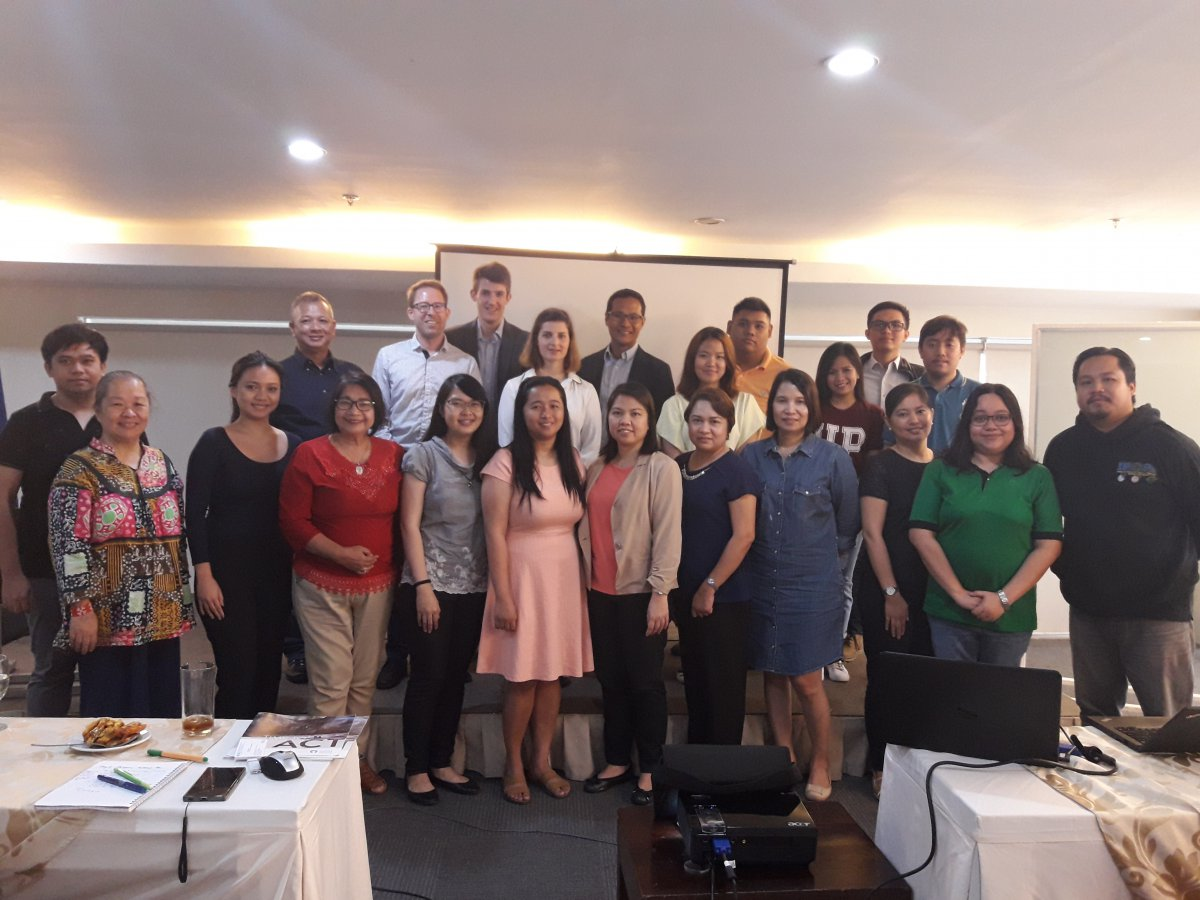 Participants from national government agencies, civil society organizations and academic institutions during the LEAP-IBC Training, 10-13 April 2018.