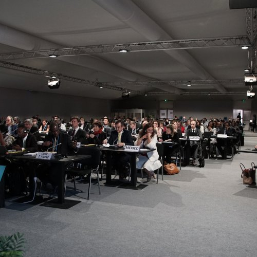 A view of the room during the event