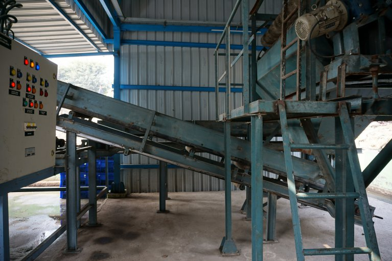 The biomethanation plant installed at Ghazipur landfill can treat 5 tons of waste per day. Photo: East Delhi Municipal Corporation