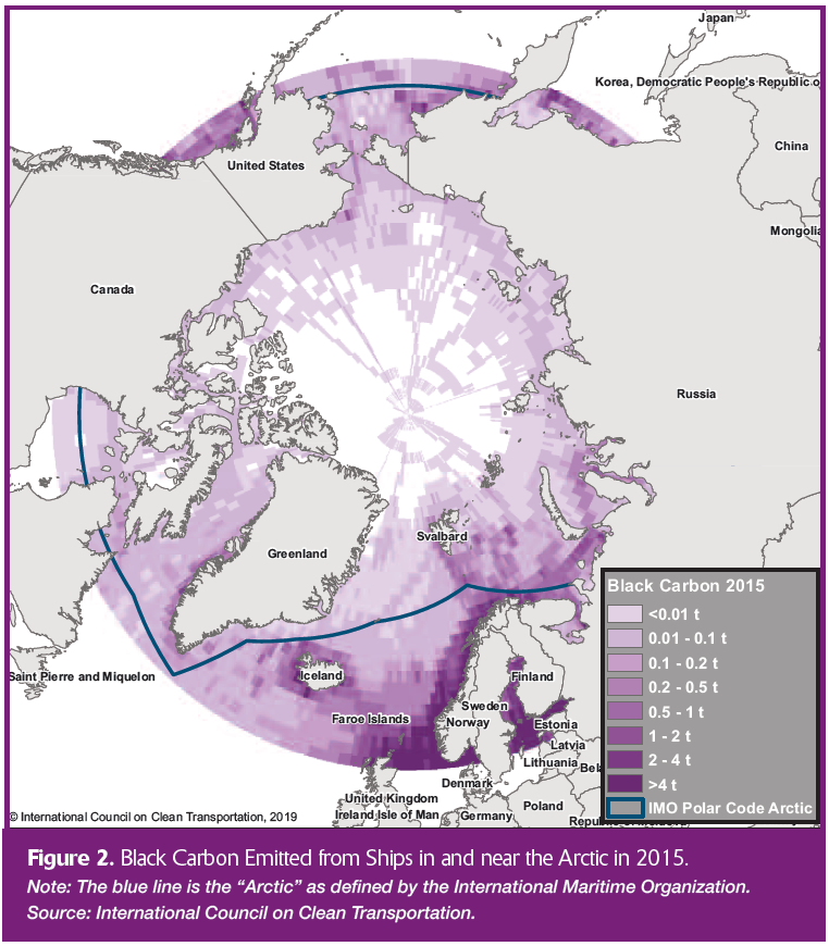Black carbon emissions near the Arctic