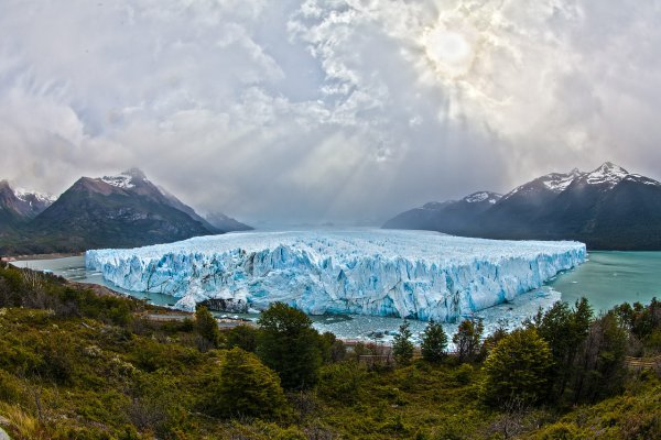 lake, glacier, blue ice, mountains