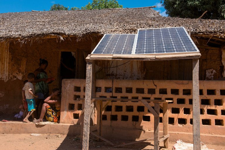 Solar energy in Madagascar. Photo: Veolia Institute