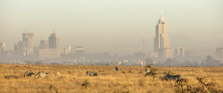 Air pollution covers the Nairobi skyline (photo:Tomas Rodriguez/GettyImages)