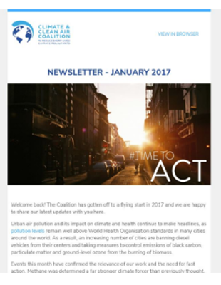 Coalition Newsletter: January 2017