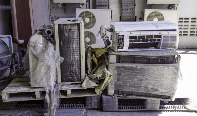 Discarded air conditioners