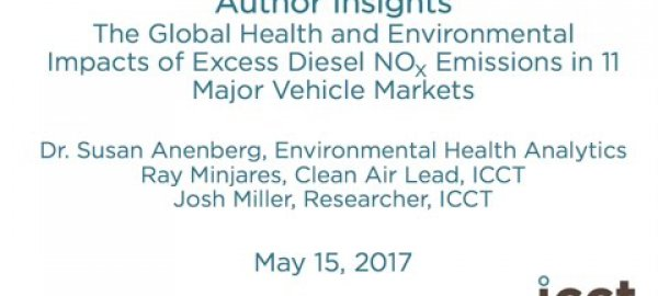 Impacts and mitigation of excess diesel NOx emissions: Author interviews