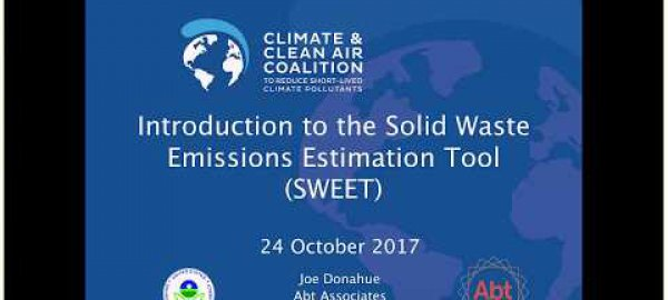 Webinar - Introduction to the Solid Waste Emissions Estimation Tool (SWEET)