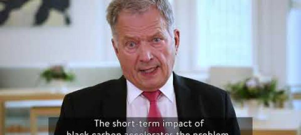President of Finland: reduce black carbon to protect the Arctic