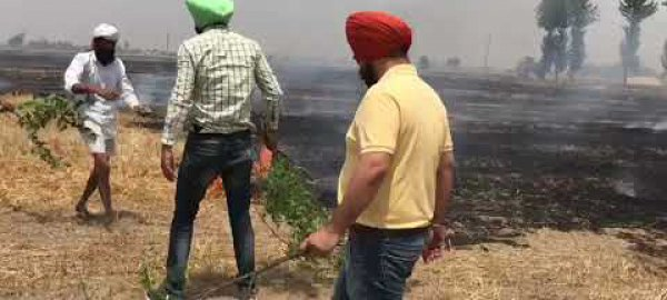 PAMETI staff put out fires in neigbouring villages.