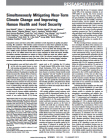 Simultaneously Mitigating Near-Term Climate Change and Improving Human Health and Food Security