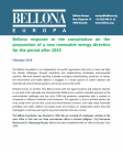 Bellona response to the consultation on the preparation of a new Renewable Energy Directive for the period after 2020