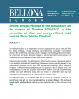 Bellona Response to the European Commission consultation on Clean Vehicles Directive