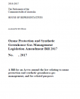 Ozone Protection and Synthetic Greenhouse Gas Management Legislation Amendment Bill