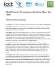 BYD commitment statement - Global Industry Partnership on Soot-Free Clean Bus Fleets