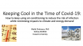 Keeping Cool in the Time of Covid-19: Safe & Sustainable Use of Air-Conditioning During a Pandemic