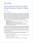 Transforming the Cookstoves Market through Standards & Labels in Nigeria