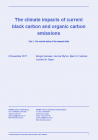 The climate impacts of current black carbon and organic carbon emissions