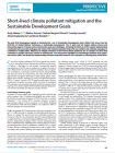 Short-lived climate pollutant mitigation and the Sustainable Development Goals