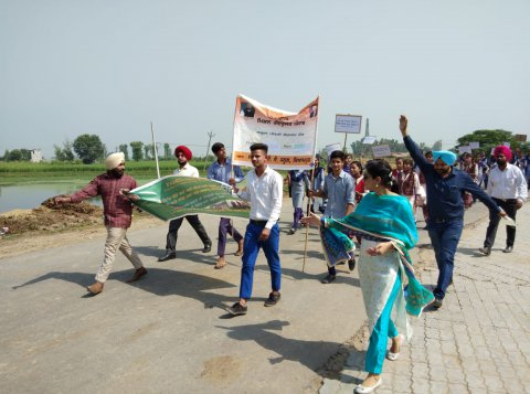 Stubble burning awareness raising event in Punjab, India
