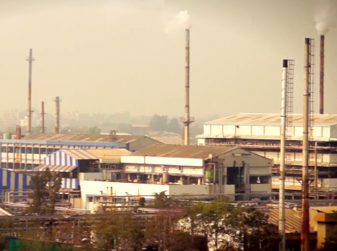 Industry Pollution in Ankleshwar Gujarat, India