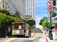 San Francisco city, tram on the street