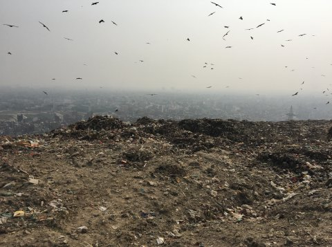 Ghazipur landfill in India. Photo: East Delhi Municipal Corporation