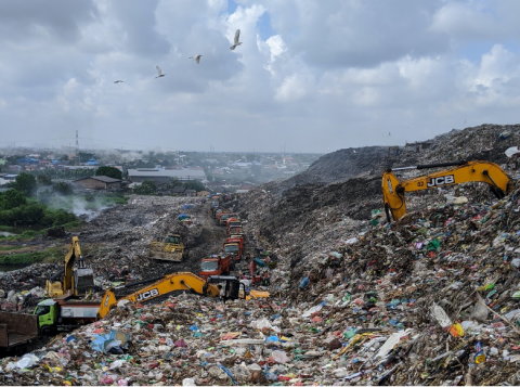 Waste Disposal Site, TPA Terjun, City of Medan, Indonesia