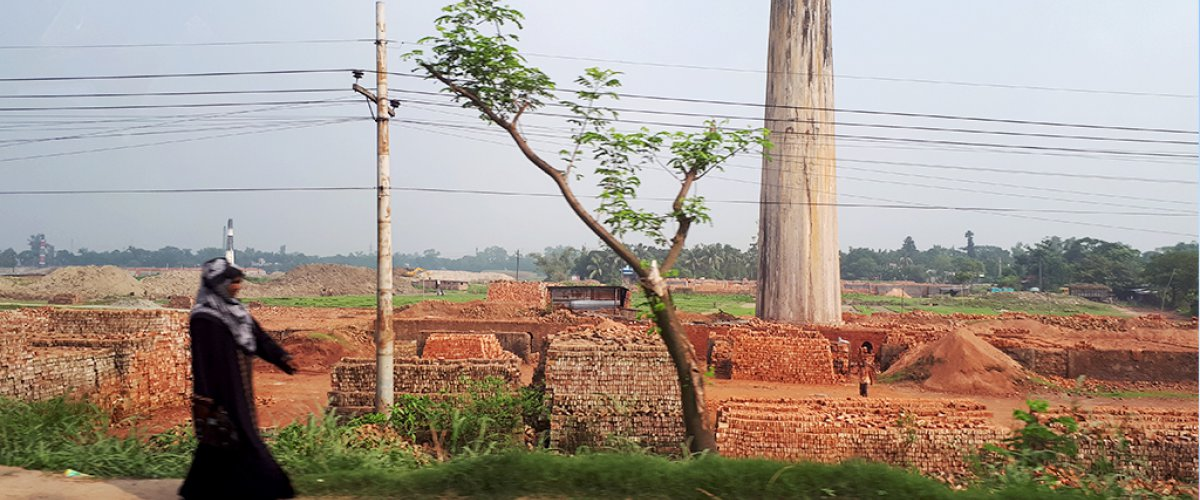 Brick kiln in Bangladesh
