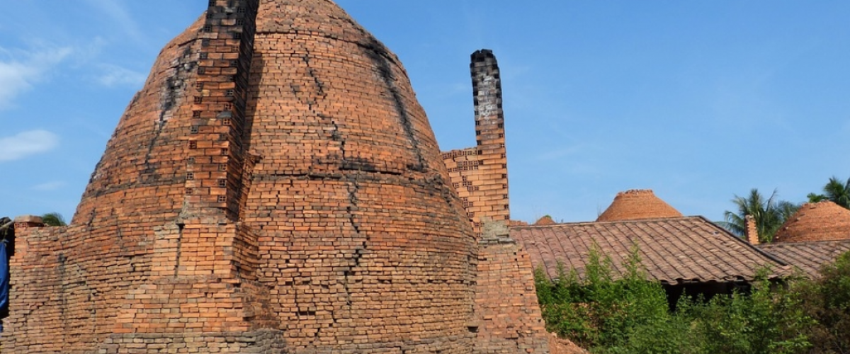 Traditional brick kiln