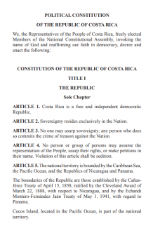 Political Constitution of Costa Rica