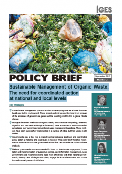 Sustainable Management of Organic Waste: The need for coordinated action at national and local levels