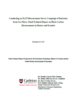 Conducting an SLCP Measurement Survey Campaign of Emissions from Gas Flares: Final Technical Report on Black Carbon Measurements in Mexico and Ecuador