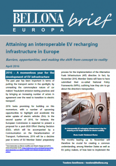 Attaining an interoperable electric vehicle recharging infrastructure in Europe