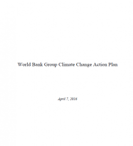 World Bank Group Climate Action Plan