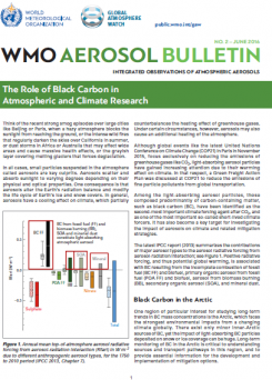 The Role of Black Carbon in Atmospheric and Climate Research (WMO aerosol bulletin 2)