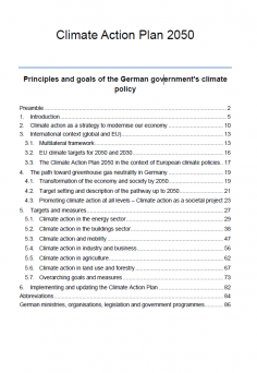 Germany's climate action plan 2050