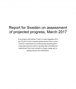 Report for Sweden on assessment of projected progress