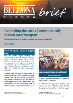 Rethinking the cost of conventionally fuelled road transport