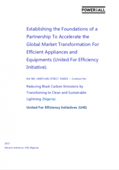 Reducing Black Carbon Emissions by Transitioning to Clean and Sustainable Lightning (Nigeria)