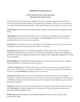 Artic Council Fairbanks Declaration