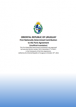 First Nationally Determined Contribution of Uruguay