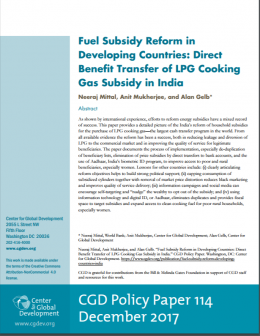 Fuel subsidy reform developing countries India