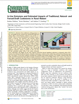 In-Use Emissions and Estimated Impacts of Traditional, Natural- and Forced-Draft Cookstoves in Rural Malawi