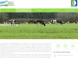 Project: Integrated Adaptation Strategy for Latin American Livestock System
