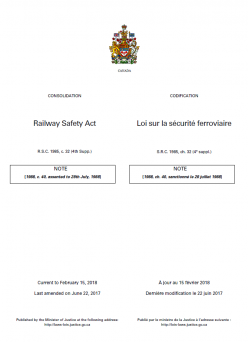 Canada's Railway Safety Act